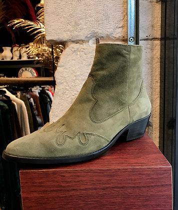 Boots velour kaki
