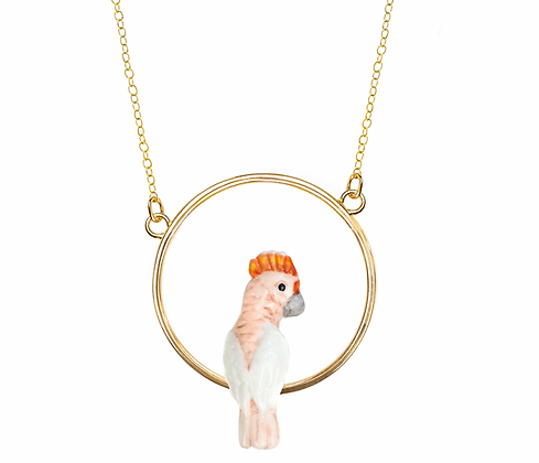 collier rond Cacatoés Rose