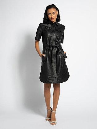 Robe en cuir noir SET
