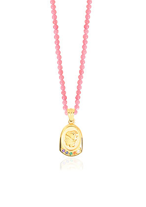 HYGIEIA STARDUST PINK CORAL NECKLACE
