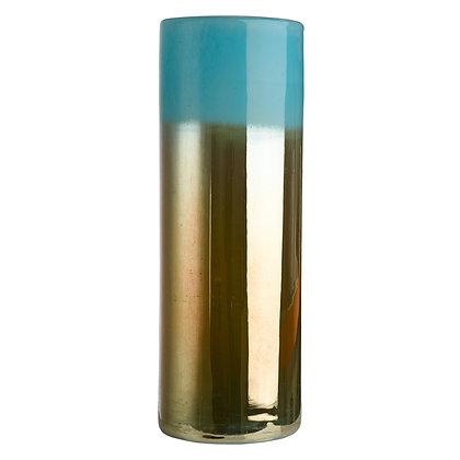 Vase Horizon Haut - Aqua/Or
