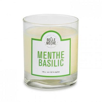 Bougie menthe basilic