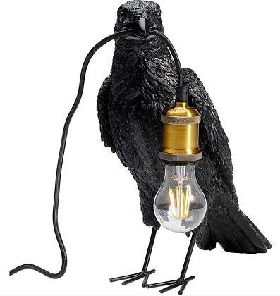 lampe de table corbeau noir