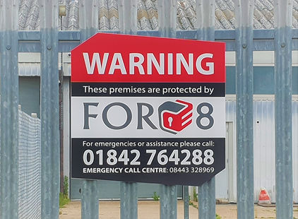 Force 8, Thetford, residential security sign