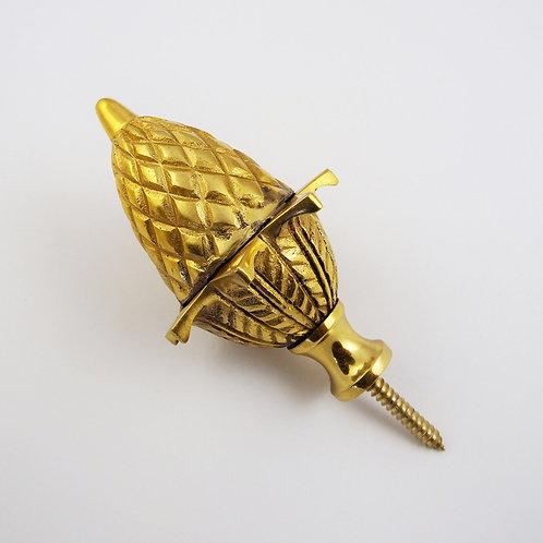Brass Acorn Ball Spire Finial : 82 x 48mm
