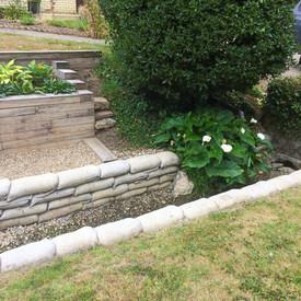 Garden wall landcaping Suffolk