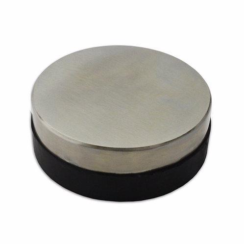 75x75x25mm Round Steel & Rubber Dapping Bench Block