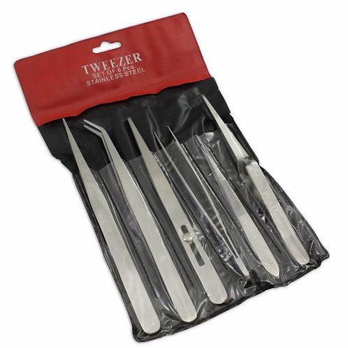 6 Non-Magnetic Tweezers Set