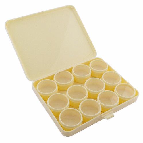 12 PVC Clear Top Pots Jewellery Storage Box