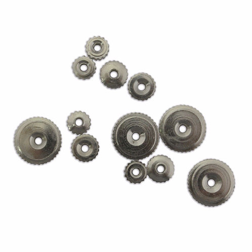 Silver Clock Hand Nuts
