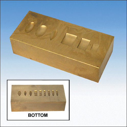 Solid Brass Ring Dapping Block