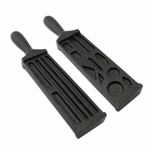"""7"""" Cast Iron Ingot Wire Mould Double Sided"""