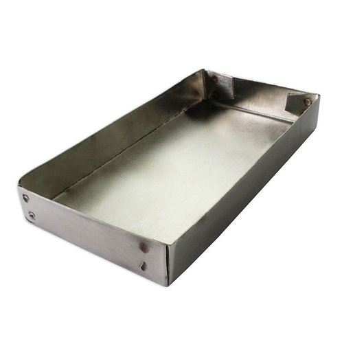 140 x 70mm Stainless Steel Charcoal Case