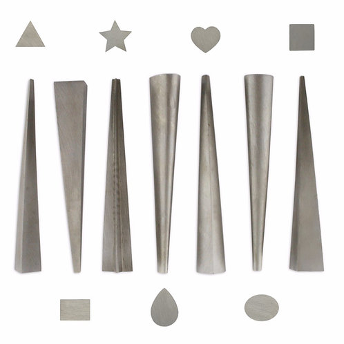 7 Ring shaped design punches tools heart star oval square punch jewellers craft
