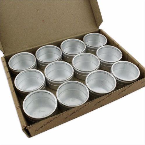 12 Silver Pots Jewellery Storage Box