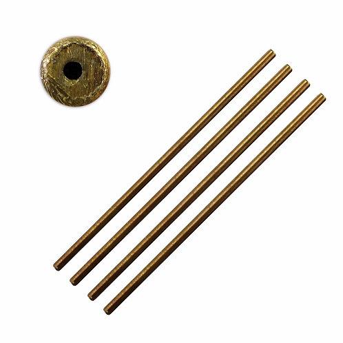 5pc Brass Hollow Bushing Wire : 2.5 x 0.75mm