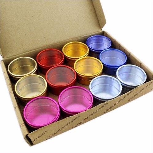 12 Colour Pots Jewellery Storage Box