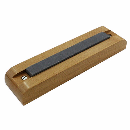 Screwdriver Sharpening Stone with Wooden Base