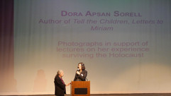 Morgan introducing Dora Sorell w_slide.J