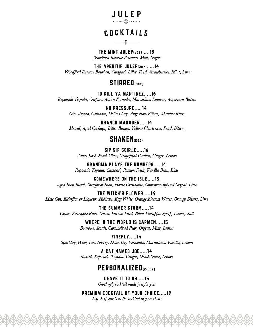 Julep cocktails updated prices.jpg