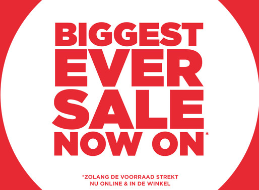 """BIGGEST EVER SALE NOW ON"" bij JD Sports!"