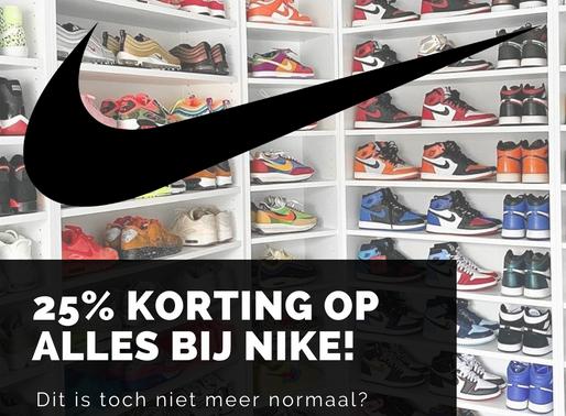 25% SALE op alles bij Nike!