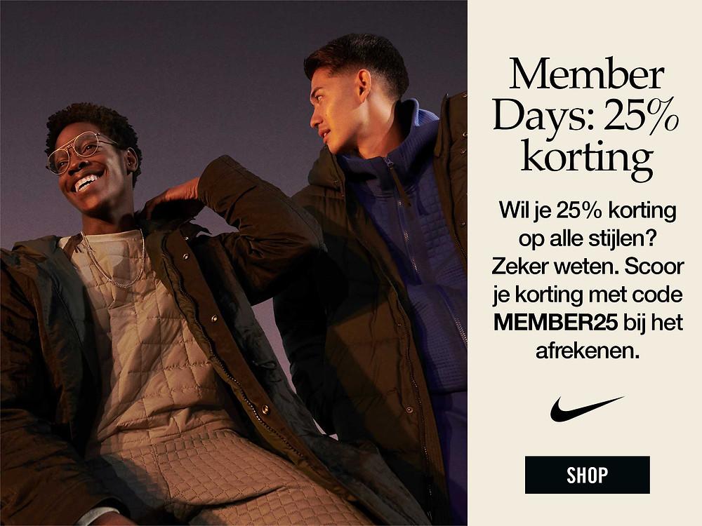 Nike Member Days - 25% korting op alles voor Nike members - Sneakerplaats.nl