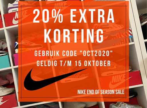 "20% EXTRA KORTING op de Nike ""End of Season Sale"""