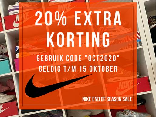 """20% EXTRA KORTING op de Nike """"End of Season Sale"""""""