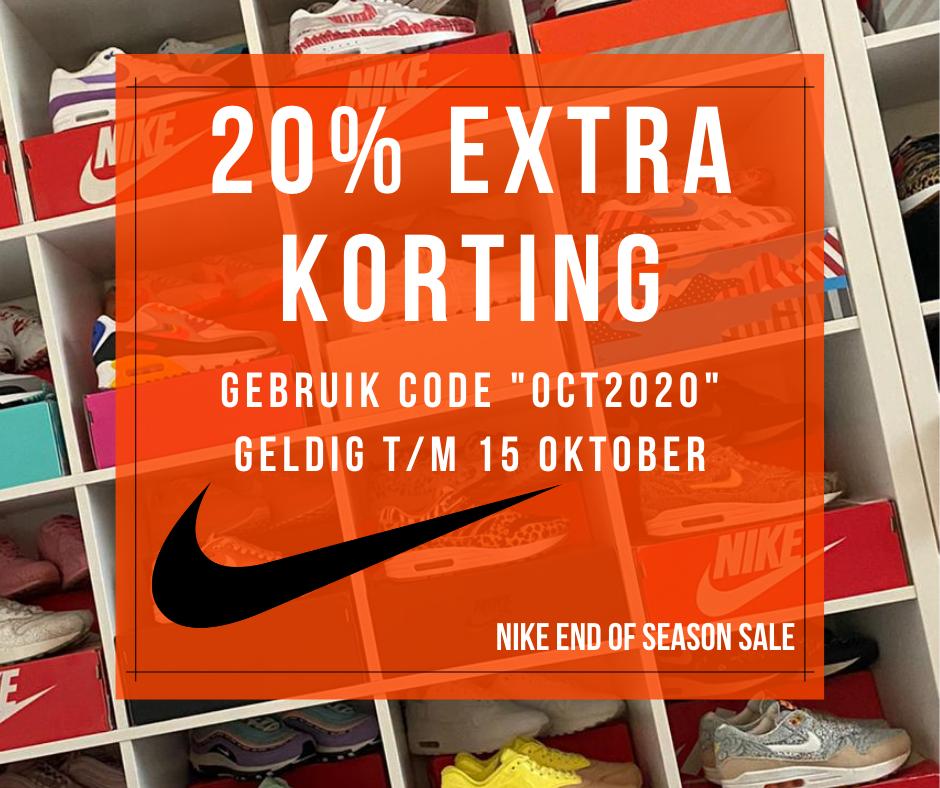 20% extra korting op de Nike End of Season Sale - Sneakerplaats.nl