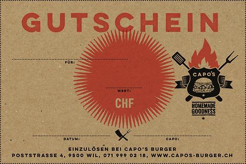 Gutschein Capo's Burger