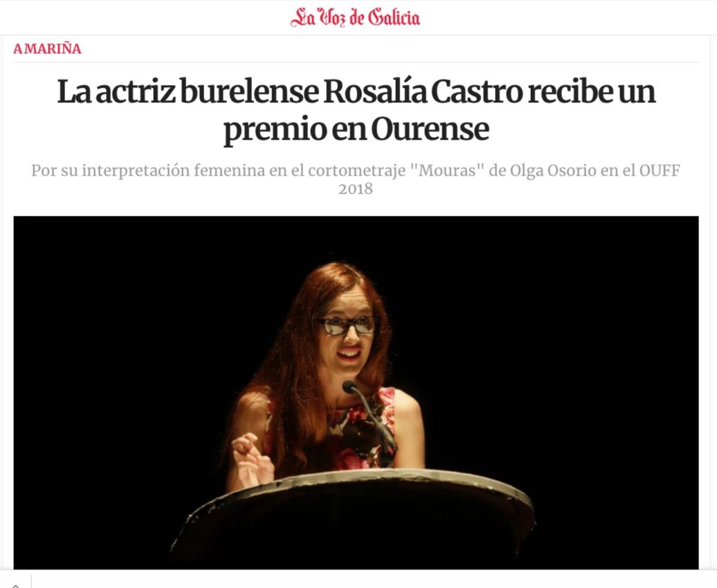 Premio mejor actriz Ouff 2018