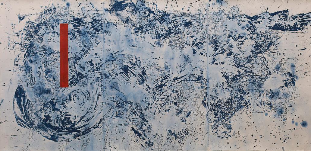 Golpe de mar 3. 228 x 112 cm