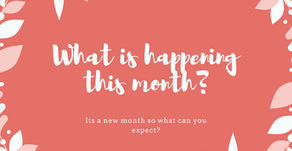 What are you up to this month?