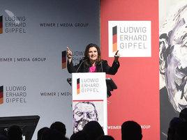 Begrüßung auf dem Ludwig-Erhard-Gipfel