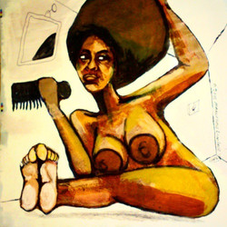 2015 SOL BORN IN HER NATURAL REFLECTION art by Marcellous Lovelace