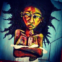 2015 she hates TV AND MEDIA DRAMA Aware Afro art by Marcellous Lovelace