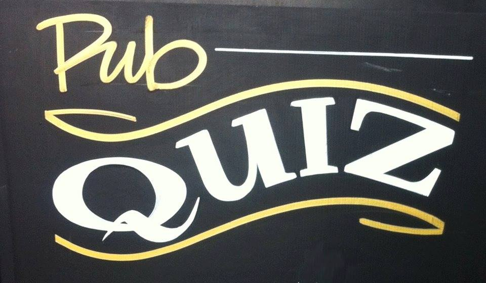 Quiz night. Last Sunday of the month
