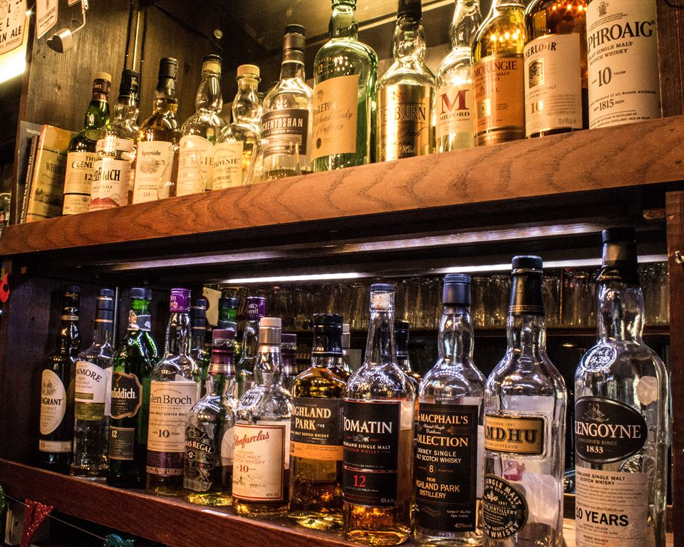 Large whiskey selection