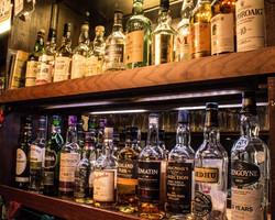 Large whiskey selection