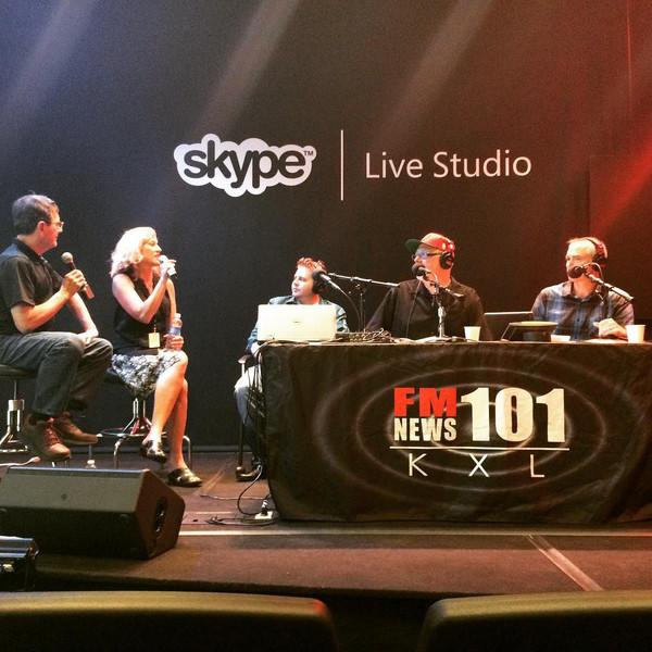 Remote at FM News 101 KXL