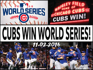 CUBS WIN!! 2016 WORLD SERIES!!!