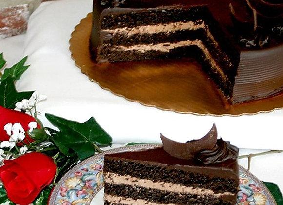 Dark Side of the Moon Chocolate Cake Slice