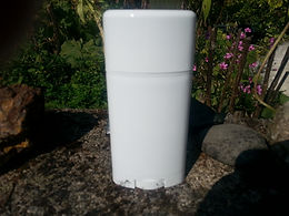 Deodorant, Empty White Plastic Containers