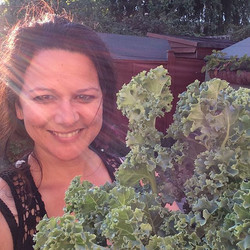 Loving the light shining through in this pic ✨and look at all that lovely #KALE - loved growing this
