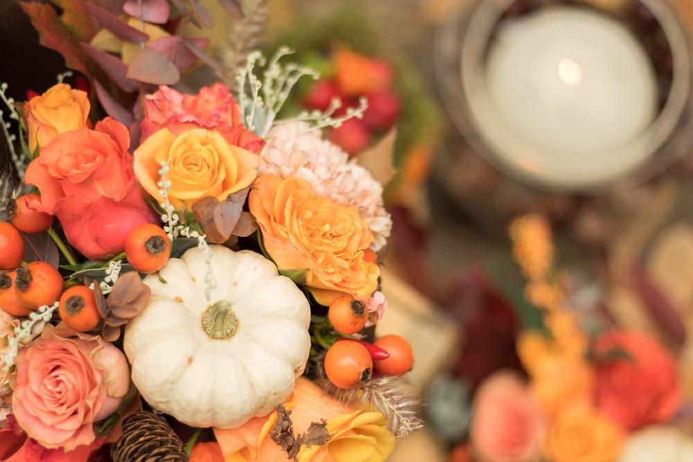 Un joli bouquet pour un mariage d'automne