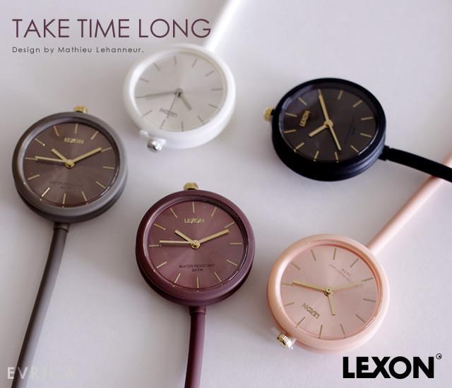 De bien jolies couleurs pour la montre Take Time de Mathieu Lehanneur pour Lexon