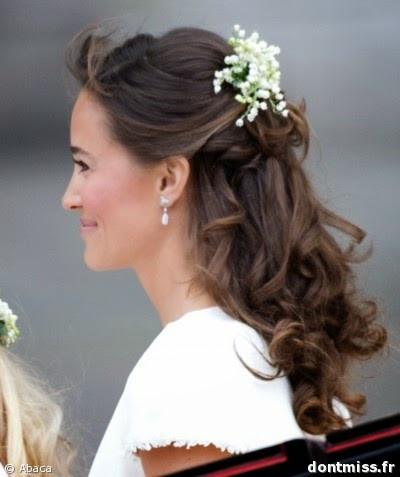 Du muguet dans les cheveux pour les mariages