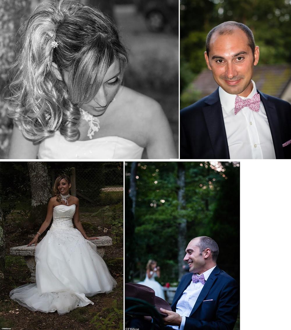 un mariage champêtre, un joli couple de mariés