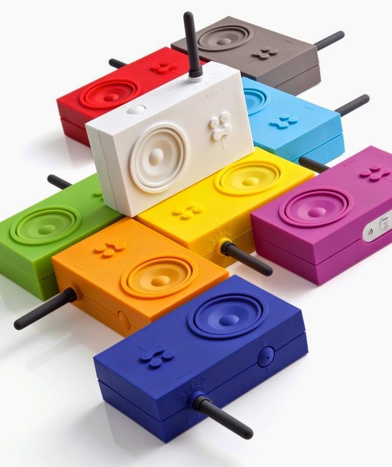 Un grand choix de couleurs pour la radio Tykho de Lexon